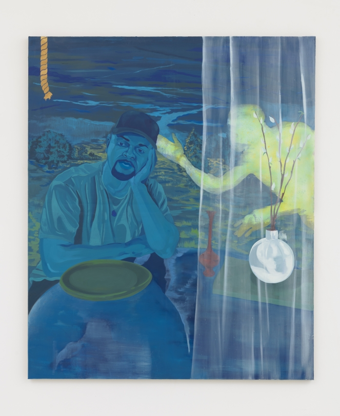 Dominic Chambers Blue DayDream (Shikeith in Blue), 2021