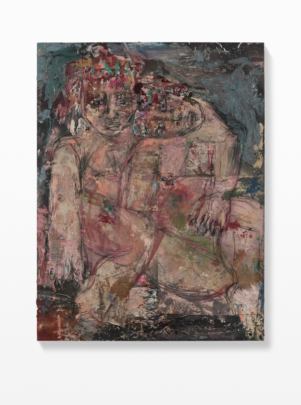 Daniel Crews-Chubb, Couples 2 (teal, pink black), 2021