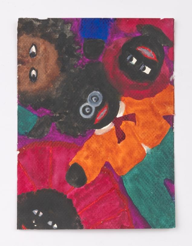 Betye Saar, Male Doll with Three Heads, 2020
