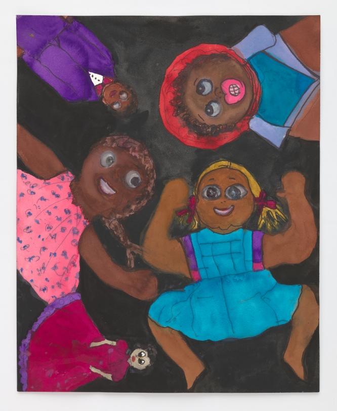 Betye Saar, 5 Black Dolls, 2021