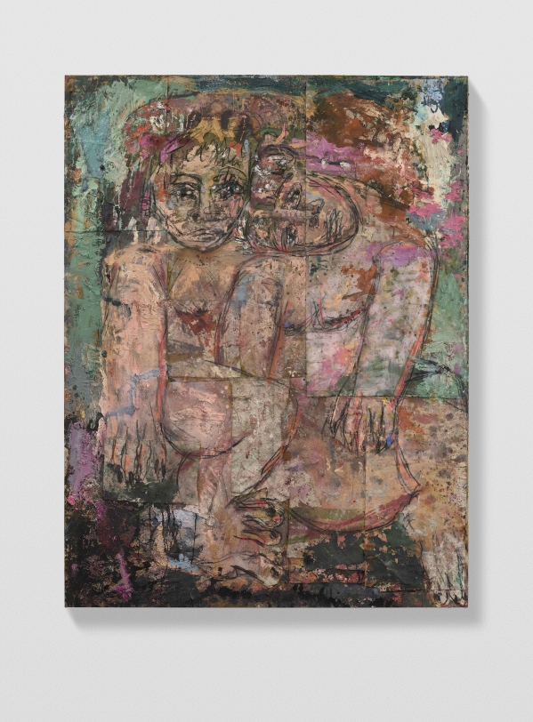 Daniel Crews-Chubb, Couples 7 (Veronese green light and violet), 2021