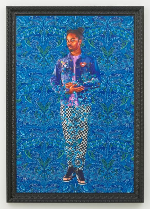 Kehinde Wiley, Portrait of Jordan Phillips II, 2020