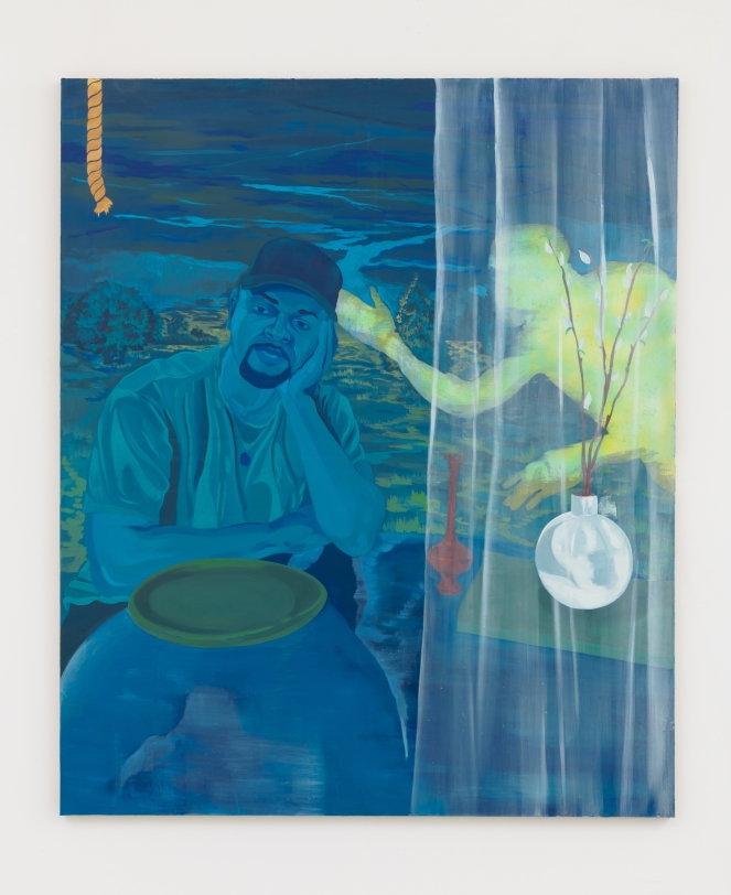 Dominic Chambers, Blue DayDream (Shikeith in Blue), 2021