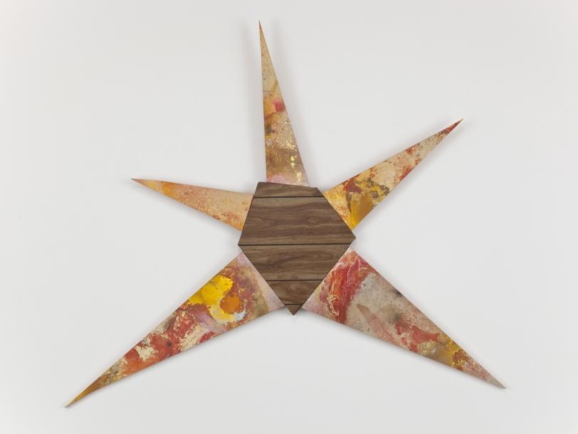Brenna Youngblood, Untitled (Orange-yellow star), 2011