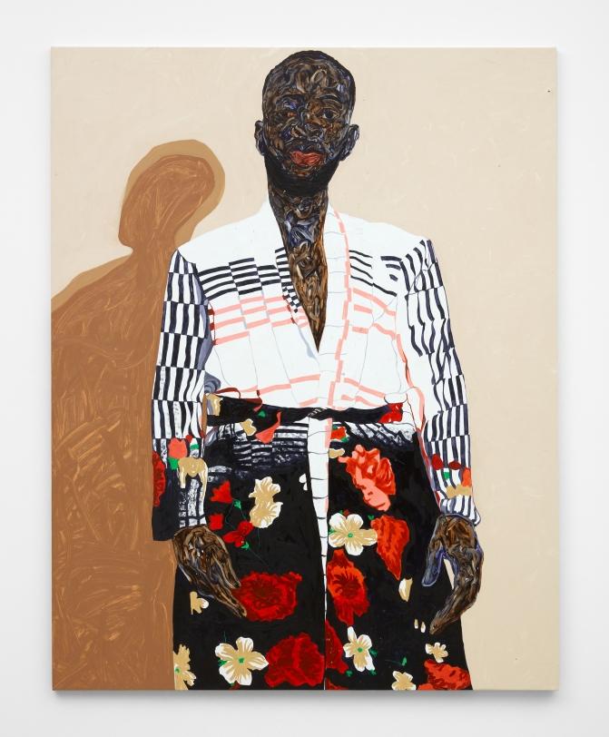 Amoako Boafo, Stylish Overcoat, 2021