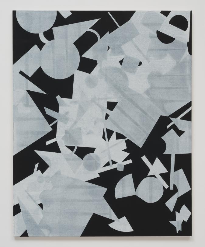 Michael Dopp Untitled (Black Shape Painting 3), 2013