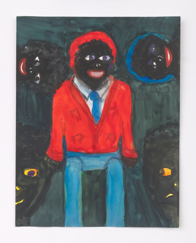 Betye Saar, Male Doll with Two Heads and Two Masks, 2020