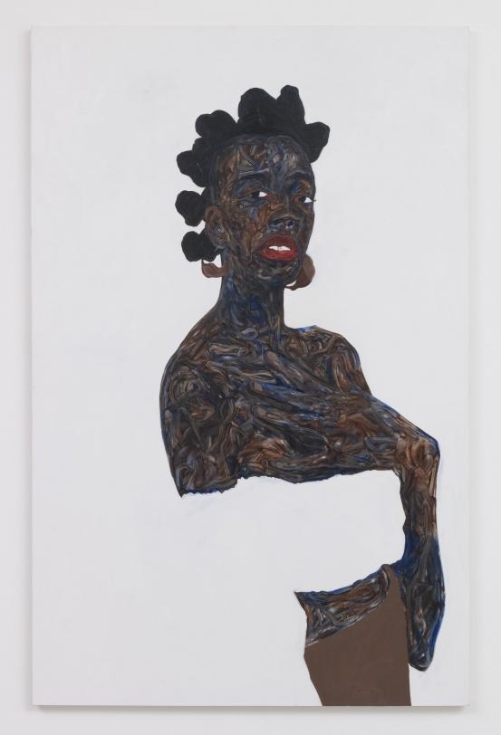 Amoako Boafo, Soleita, 2019, Oil on canvas