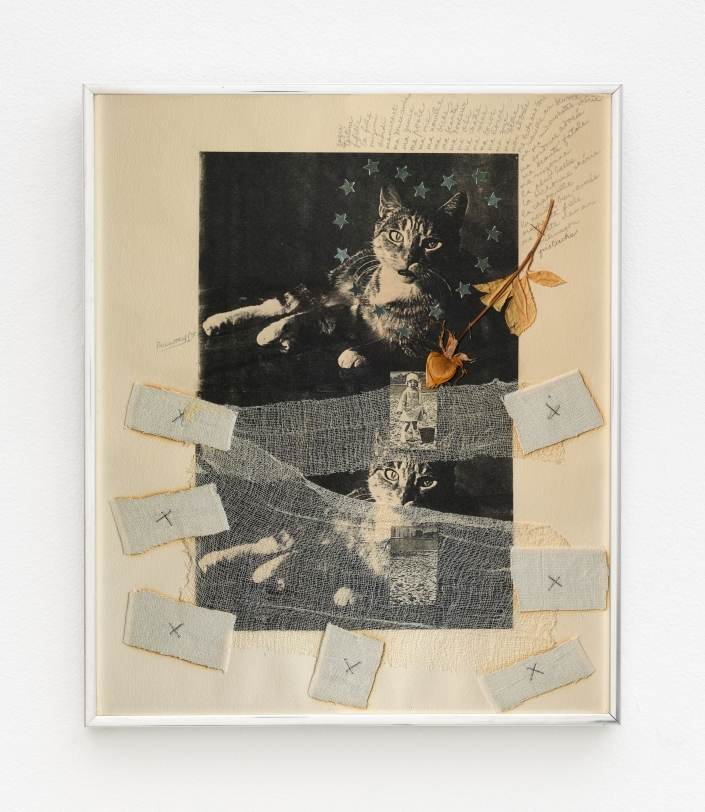 Rachel Rosenthal, Dibidi, 1975, Mixed Media collage, 18.75 x 15.75 x 1 in, Reg#10470