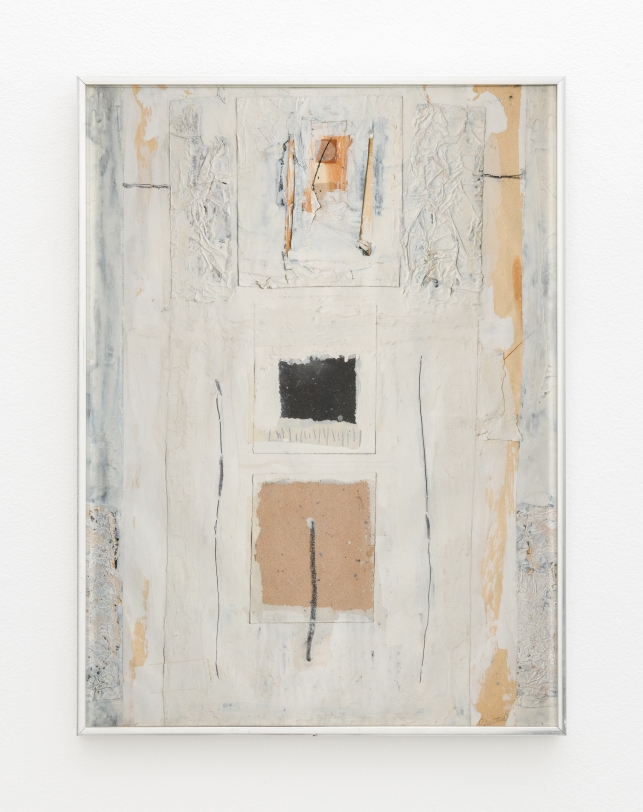 Rachel Rosenthal, Altar with Moon, c. 1975, Mixed Media collage, 23.25 x 17.25 in Reg#10476