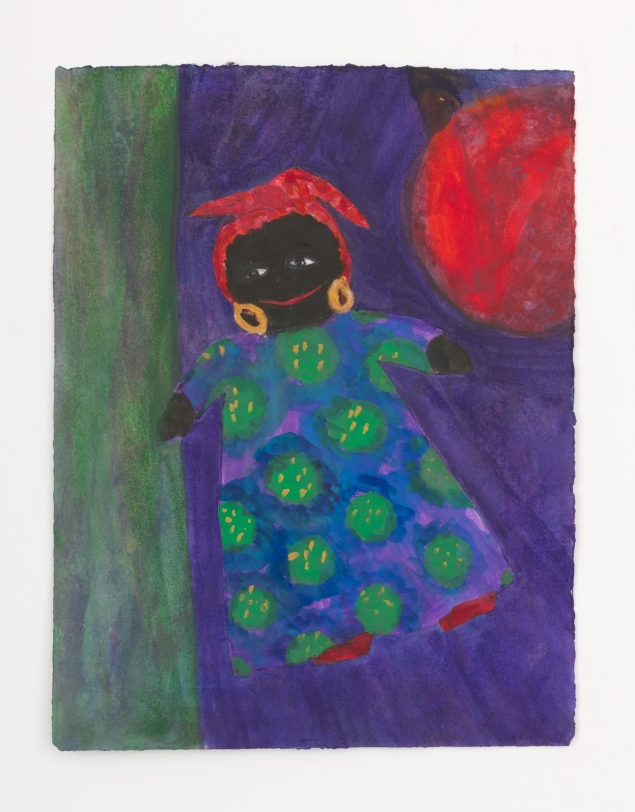 Betye Saar Floating Black Doll w/ Red Ball, 2021