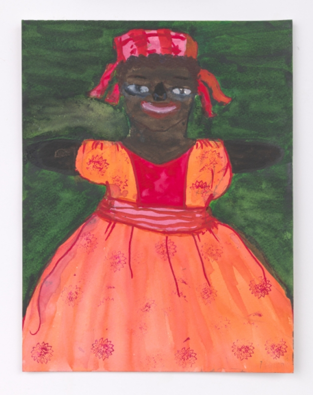 Betye Saar Female Doll in Pink Dress, 2020