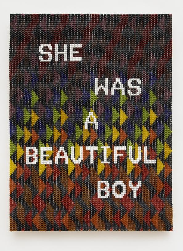 Jeffrey Gibson, SHE WAS A BEAUTIFUL BOY, 2020
