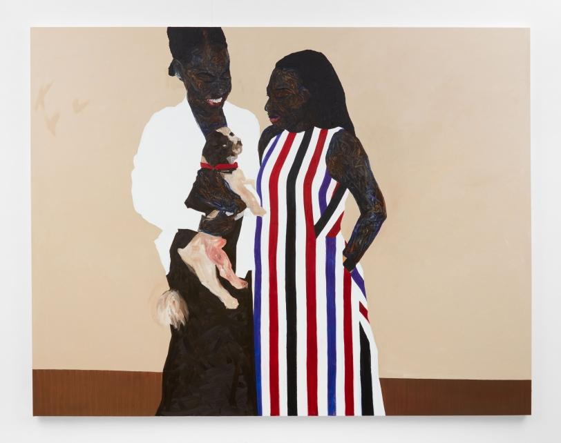 Amoako Boafo, Red Collar, 2021