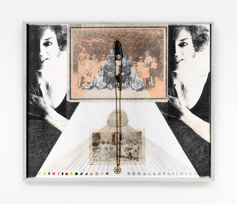 Rachel Rosenthal, Untitled, 1975, Mixed Media collage, 15 x 18 in Reg#10451