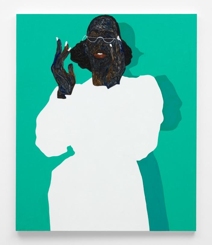 Amoako Boafo, White Nail Polish, 2021