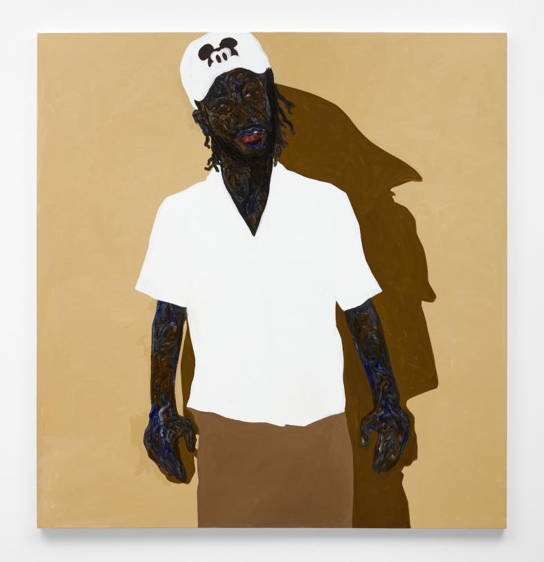 Amoako Boafo, Self Portrait - Mickey Mouse Cap, 2021
