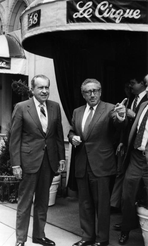 Bill Cunningham - Richard Nixon and Henry Kissinger, c. 1970s Gelatin silver print, printed c. 1970s ; Bruce Silverstein Gallery