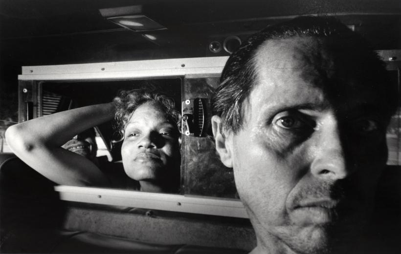 Ryan Weideman - Self Portrait with Black Woman, Boyfriend, Black Elbow Grin, 1996   Bruce Silverstein Gallery