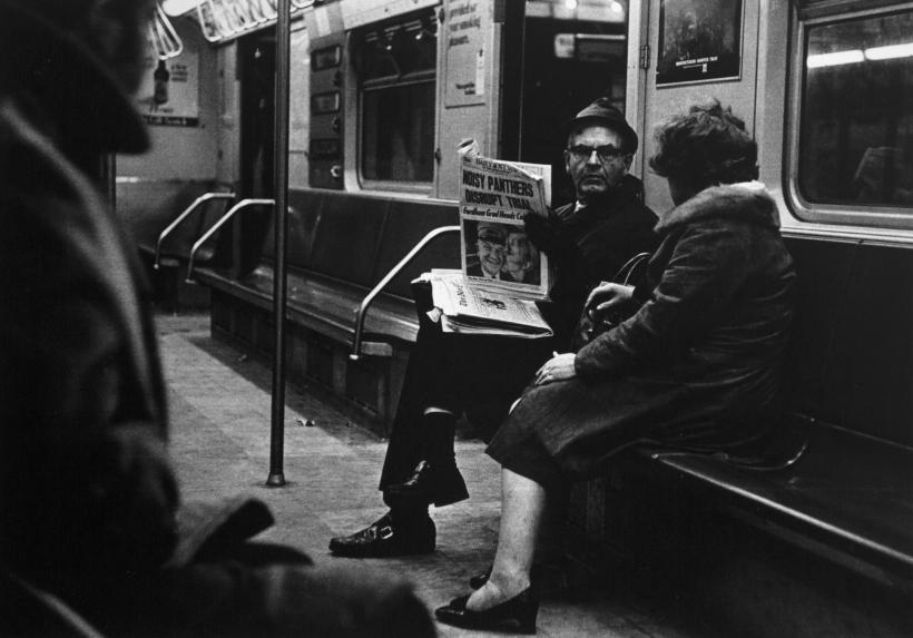 Louis Draper ; Couple on subway, New York, c. 1970 ; Bruce Silverstein Gallery