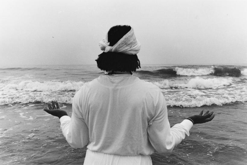 Chester Higgins - Ancestral Memorial, Coney Island, 1995  | Bruce Silverstein Gallery