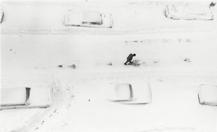 Adger Cowans ; Footsteps, Harlem, 1961 ; Bruce Silverstein Gallery