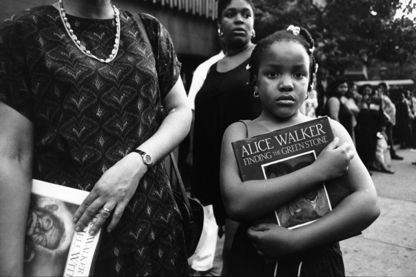 Chester Higgins - Booksigning for Alice Walker, Brooklyn, 1991  | Bruce Silverstein Gallery
