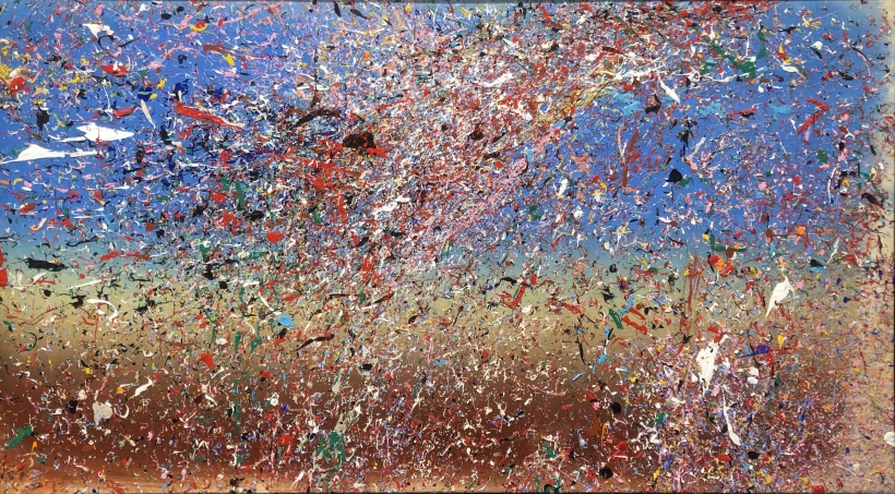 Adger Cowans ; Orbiting Series #2, 2006 Acrylic on canvas 26 x 46 inches ; Bruce Silverstein Gallery