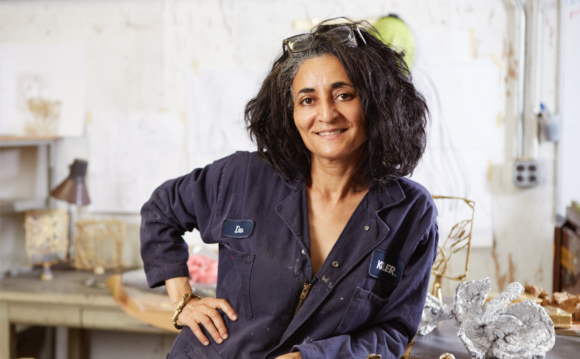 In the Studio with Ghada Amer