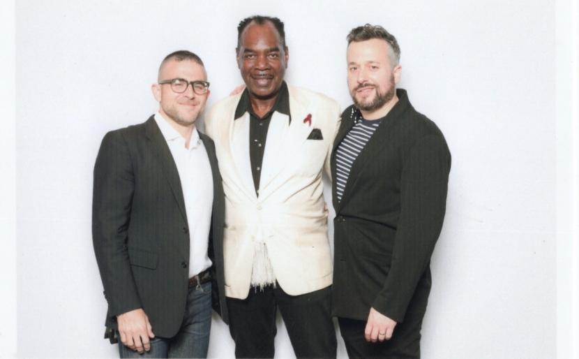 Jacob Robichaux, Frederick Weston, Sam Gordon at Visual AIDS VAVA VOOM Benefit Auction