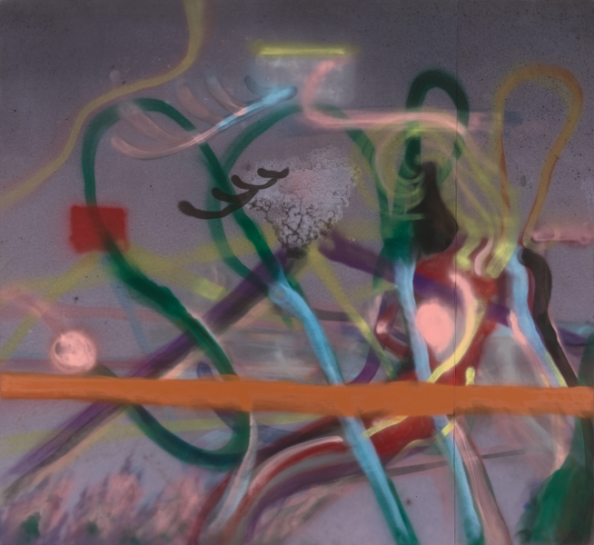 Untitled (Spray paint painting)