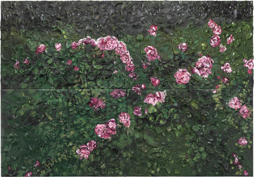 Large Rose Painting (Near Van Gogh's Grave)