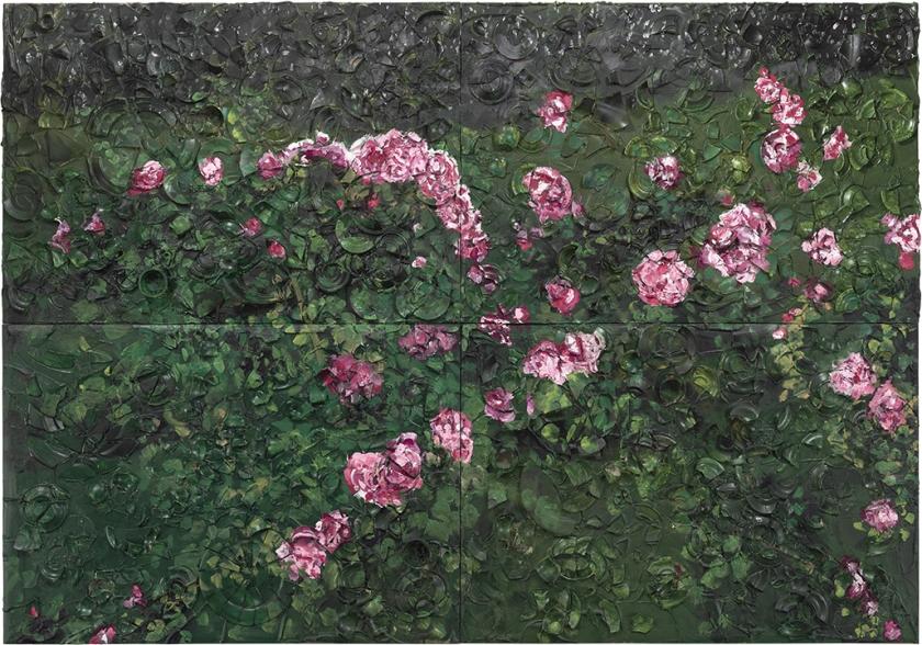 Large Rose Painting (Near Van Gogh's Grave)