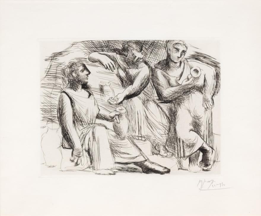Pablo Picasso, La Source, Drypoint