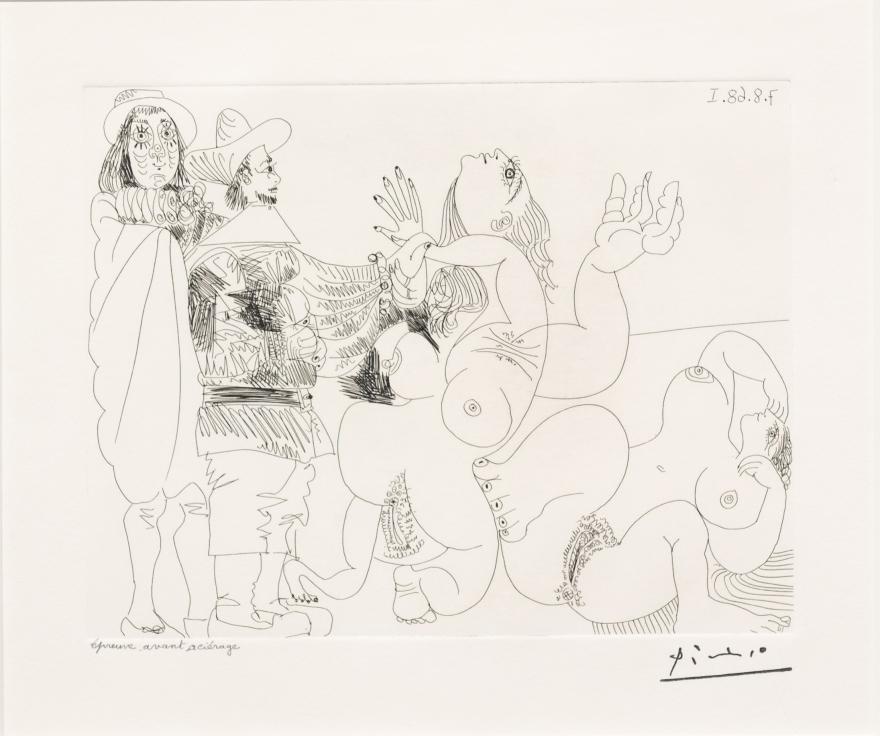Pablo Picasso, Jeune Seigneur Fantoche, 347 Series, Etching