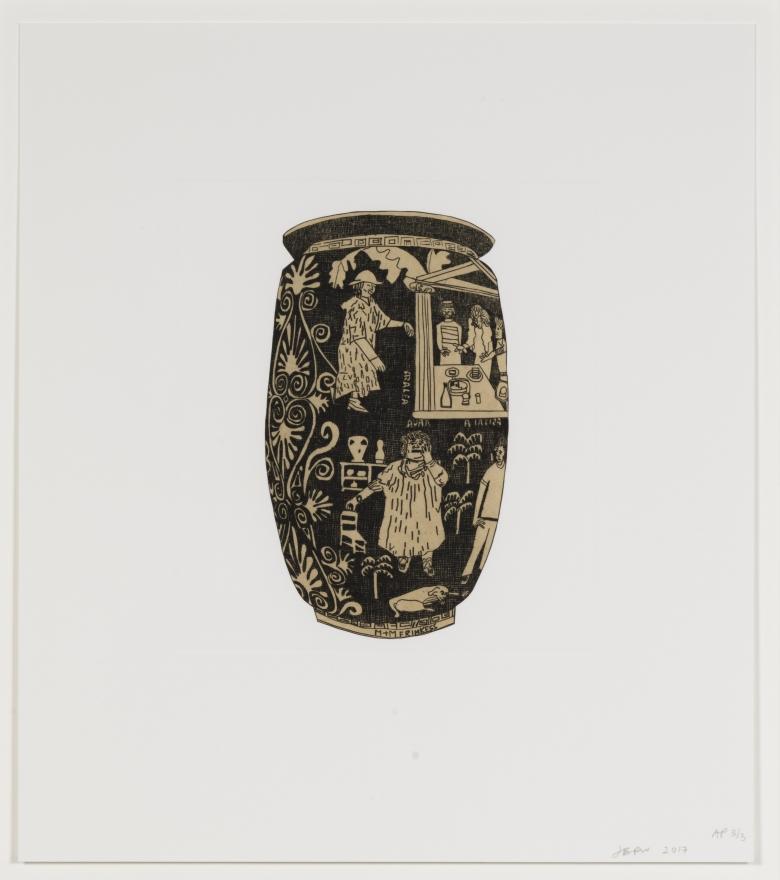 Jonas Wood, Untitled from 8 Pots, 2017 (WO115)