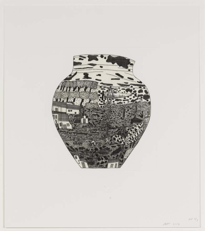 Jonas Wood, Untitled from 8 Pots, 2017 (WO117)