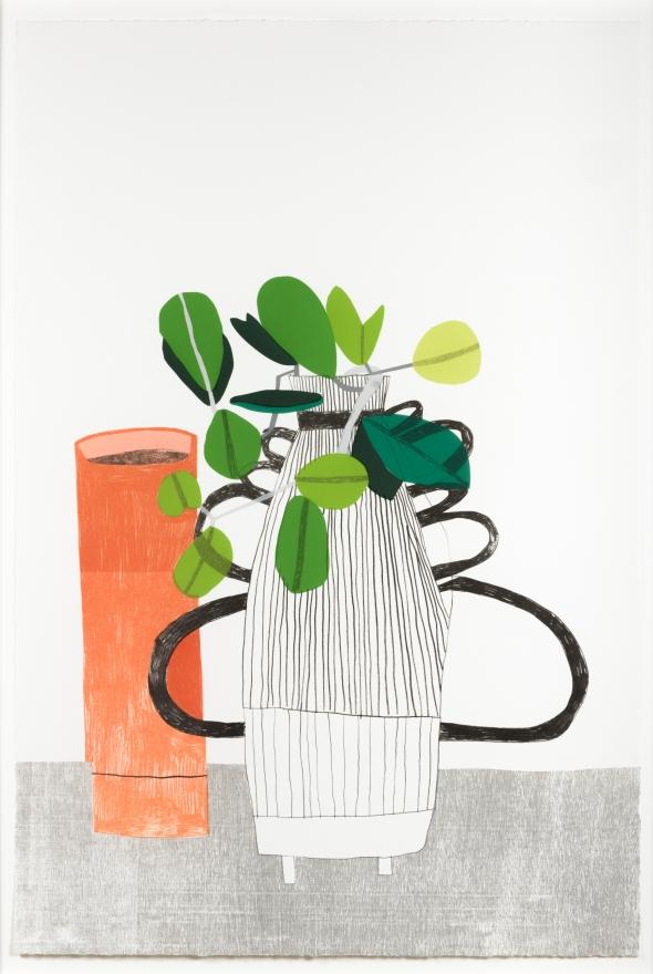 Jonas Wood, Untitled, 2009, Lithograph, woodblock, and screenprint (WO102)