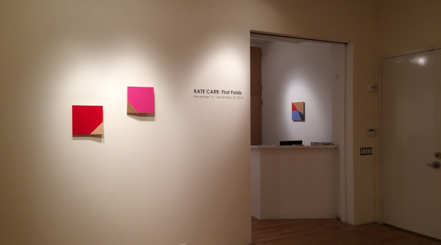 KATE CARR: First Folds Nov. 13 - Dec. 13, 2014