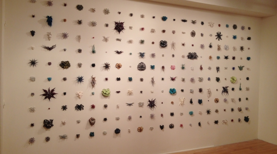 Material Grid exhibition Sept. 2014 (Christopher Adams installation)