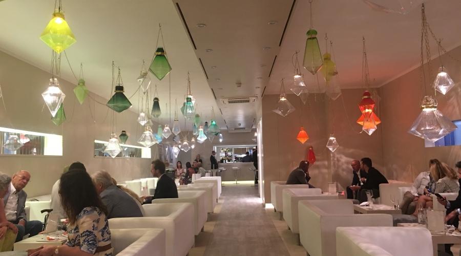 Frida Fjellman at Net Jets Lounge Art Basel