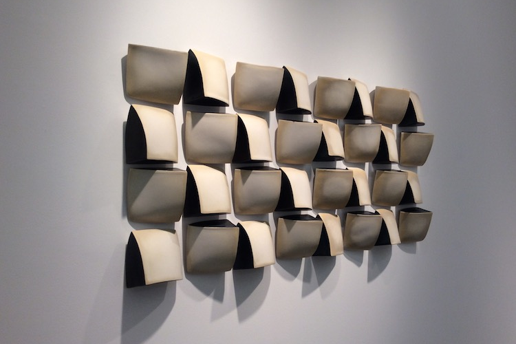 MAREN KLOPPMANN, Wall Pillow Field, glazed porcelain 48 x 22 x 3 in.