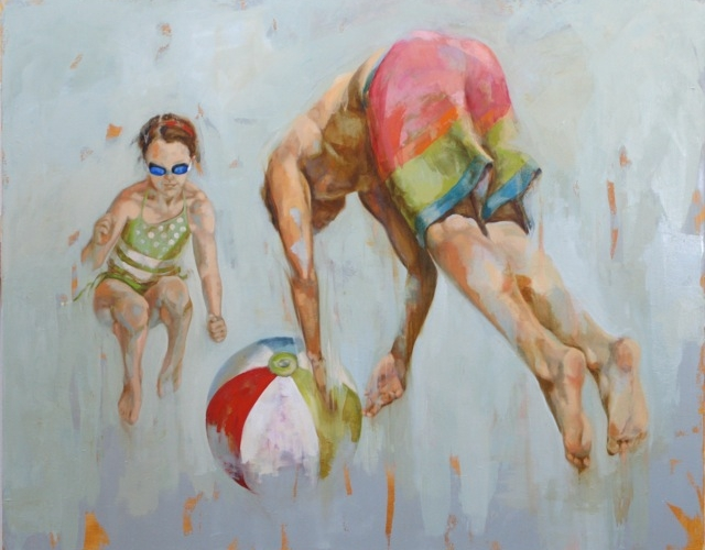 """Beach Ball"" 48"" x 60"", oil on canvas"