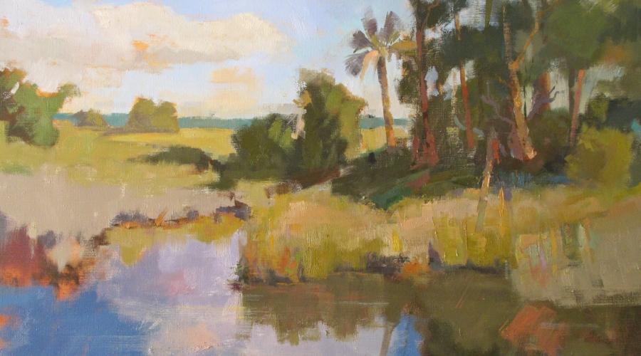 """Morning Gaze"" by Julia Ralston 30""x40"" oil on canvas"