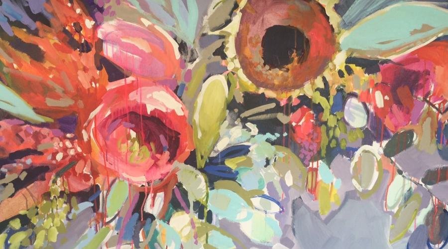 """Metamorphosis 5"" by Erin Gregory 36""x48"" acrylic on canvas"