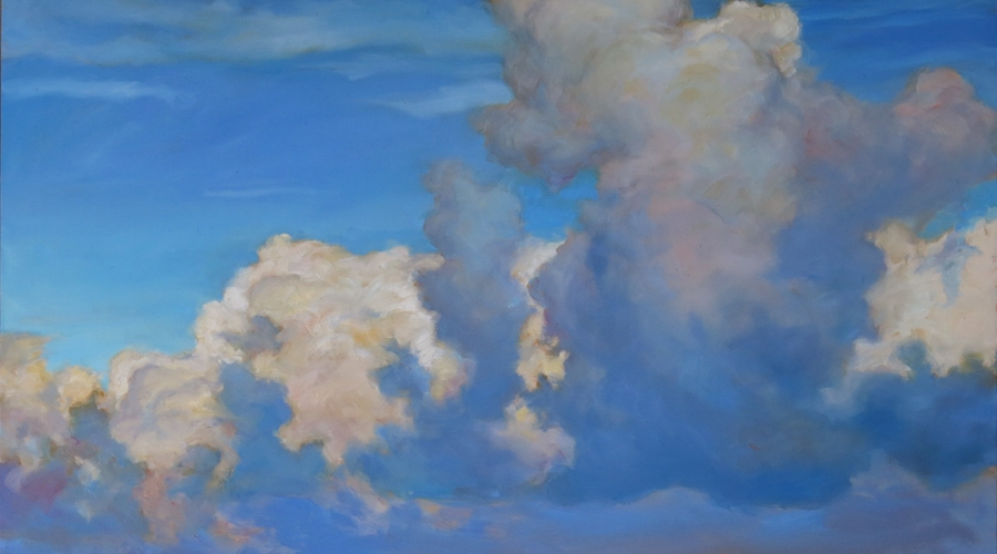 """""""Nimbus"""" by James Griffin 36""""x48"""" acrylic on canvas"""