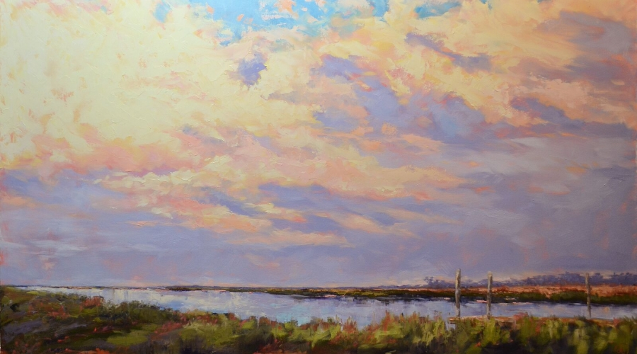 """Daybreak Inspiration"" 36"" x 60"", oil on canvas"