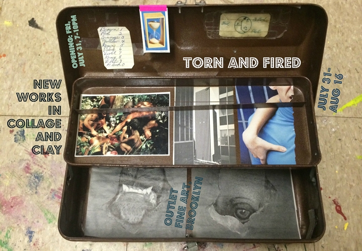 Torn and Fired: new work in collage and clay
