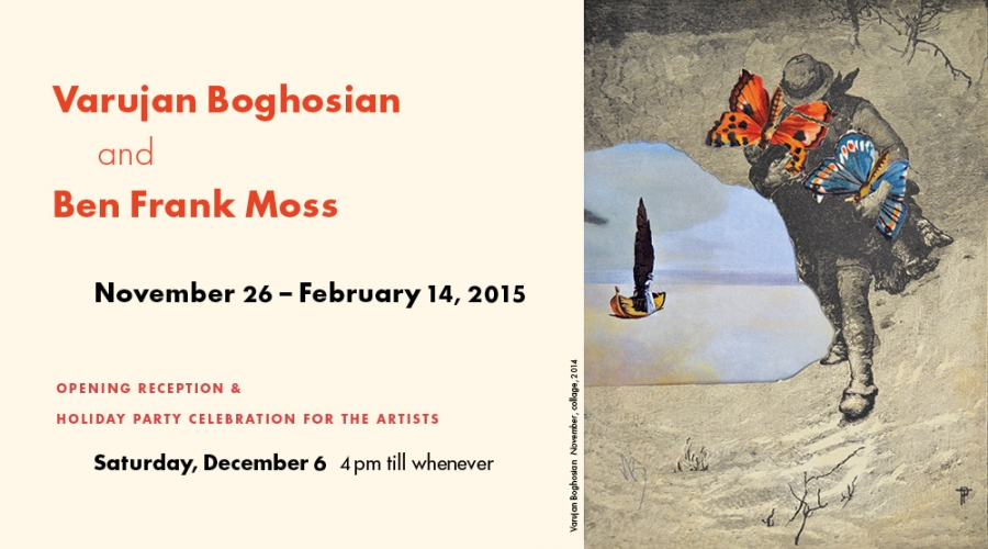 DUET: Varujan Boghosian & Ben Frank Moss - Opening Dec 6, 2014