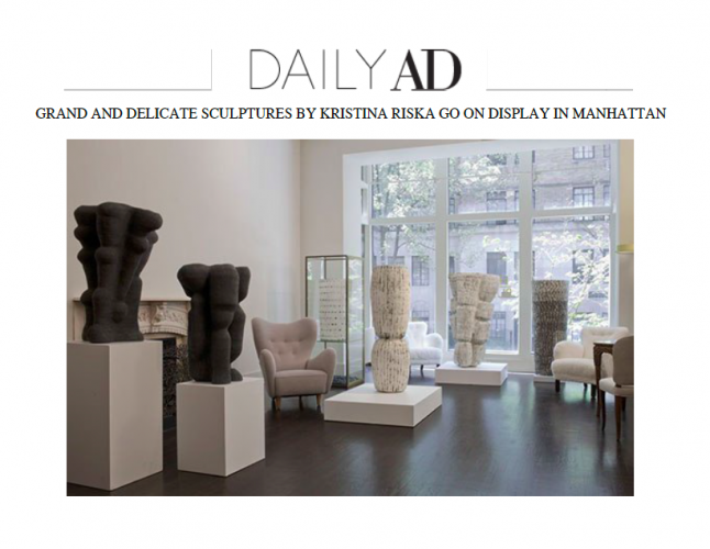 CLICK TO VIEW: KRISTINA RISKA FEATURED IN ARCHITECTURAL DIGEST